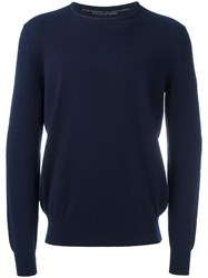 Ermanno Scervino Crew Neck Jumper Blue