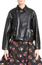 Comme Des Garcons Women's Asymmetrical Faux Leather Jacket