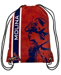 Forever Collectibles Yadier Molina St. Louis Cardinals Elite Drawstring Bag Red