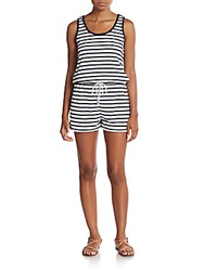 Saks Fifth Avenue Red Striped Short Jumpsuit