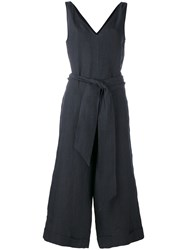 Masscob Belted Cropped Jumpsuit Black