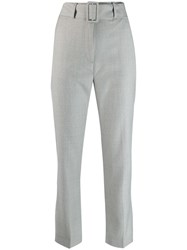 Fabiana Filippi Cropped Flared Trousers Grey