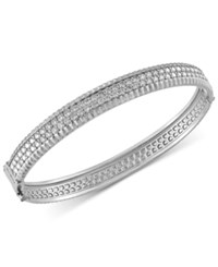 Effy Collection Trio By Effy Diamond Bangle Bracelet 2 1 6 Ct. T.W. In 14K White Yellow And Rose Gold White Gold