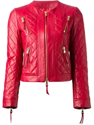 Moschino Quilted Jacket Red