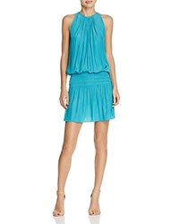 Ramy Brook Paris Draped Dress Turquoise