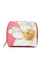 Le Sport Sac Lesportsac X Peanuts Square Essential Cosmetic Pouch Love Flower Pink