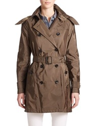 Burberry Balmoral Hooded Trenchcoat Military Olive
