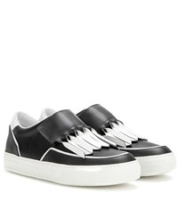 Tod's Sportivo Frangia Origami Leather Sneakers Black