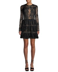Bailey 44 Riviera Lace Long Sleeve Cocktail Dress Black
