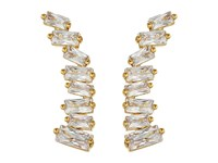 Gorjana Amara Ear Climber Earrings White Cz Gold Earring