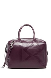 Christopher Kon Crossbody Leather Satchel Purple