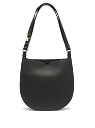 Valextra Hobo Weekend Medium Leather Bag Black