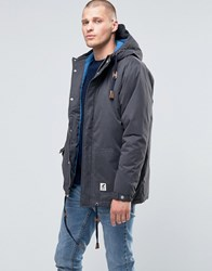 Fat Moose Sailor Mid Parka Quilted Lining Anthracite Grey