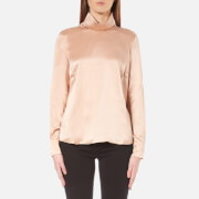 Gestuz Women's Lullu Silk Rollneck Top Maple Sugar Pink