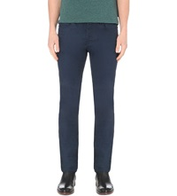 Ted Baker Straight Fit Mid Rise Jeans Rinse Denim