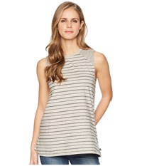 United By Blue Glencoe Stripe Tank Top Grey Sleeveless Gray