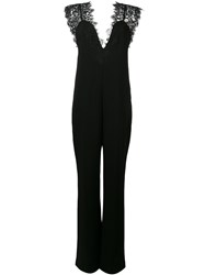 Theory Wide Leg Jumpsuit Women Cotton Polyamide Polyester Triacetate 10 Black