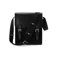 Aspinal Of London Men's Shadow Small Messenger Bag Black Ebl