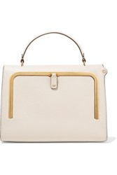 Anya Hindmarch Postbox Textured Leather Tote Cream