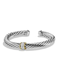 David Yurman Cable Classics Bracelet With Diamonds And Gold Silver Gold