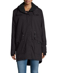 Bench Relator Fleece Trimmed Parka Jet Black