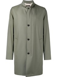Loro Piana Single Breasted Coat Green