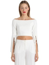 Cameo Off The Shoulder Slit Sleeve Top