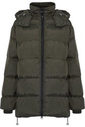 W118 By Walter Baker Monica Quilted Shell Hooded Coat Army Green