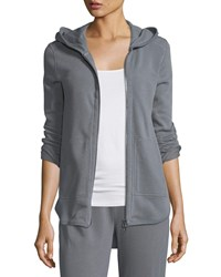 Atm Anthony Thomas Melillo Zip Front French Terry Hoodie Gray