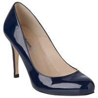 Lk Bennett L.K. Stila Patent Leather Court Shoes Navy