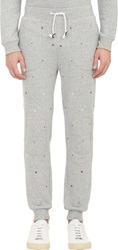 Band Of Outsiders Medallion Embroidered Sweatpants Grey Size 0 Xs