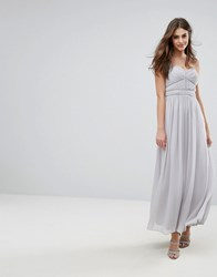Oasis Chiffon Maxi Dress Grey