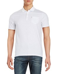 Ben Sherman Patterned Cotton Polo Bright White