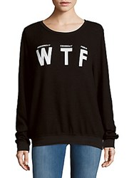Wildfox Couture Letters Printed Pullover Jet Black
