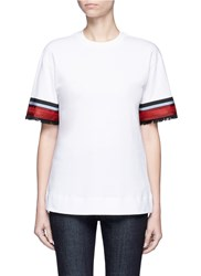 Victoria Beckham Ribbon Trim Cuff T Shirt White