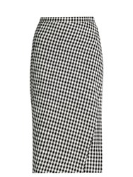 Altuzarra Vic Hound's Tooth Crepe Skirt Black White