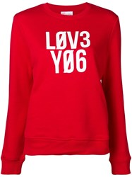 Red Valentino Love You Jumper Red