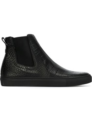 Christopher Kane Crocodile Embossed Boots Black