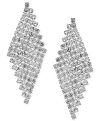 Inc International Concepts Silver Tone Crystal Mesh Drop Earrings Only At Macy's