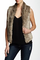 Tart Gwen Faux Fur Vegan Leather Vest Beige