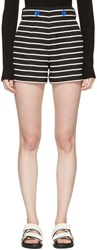 Proenza Schouler Black And White Striped Shorts