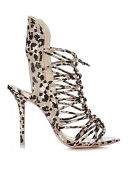 Sophia Webster Lacey Sketch Camo Leather Sandals