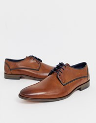 Pier One Lace Up Shoes In Brown Leather