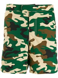 Mc2 Saint Barth Camouflage Print Shorts Green