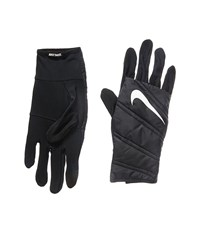 Nike Quilted Run Gloves Black Silver Cycling Gloves