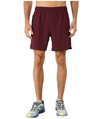 New Balance 7 Stretch Woven Short Burgundy Black Men's Shorts