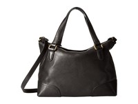 Frye Claude Satchel Black Tumbled Full Grain Satchel Handbags