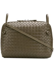Bottega Veneta Intrecciato Crossbody Bag Green