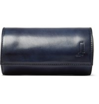 Berluti Polished Leather Watch Roll Navy