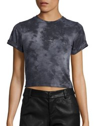 Alice Olivia Paulene Cropped Tee Black Grey